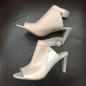Franco Sarto leather and patent leather heels.